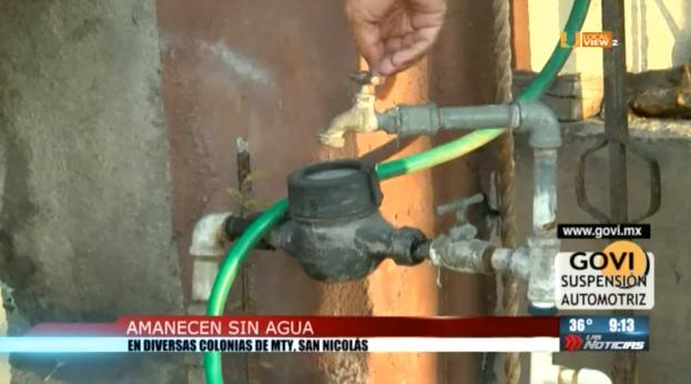 Sin previo aviso, dejan sin agua a miles de familias en la zona metropolitana de Monterrey