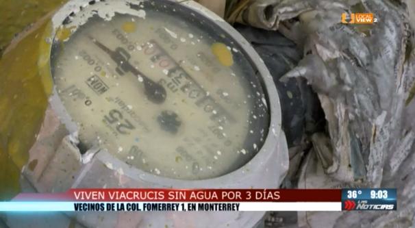 Más de tres días sin el suministro de agua potable en algunos sectores de la zona metropolitana de Monterrey