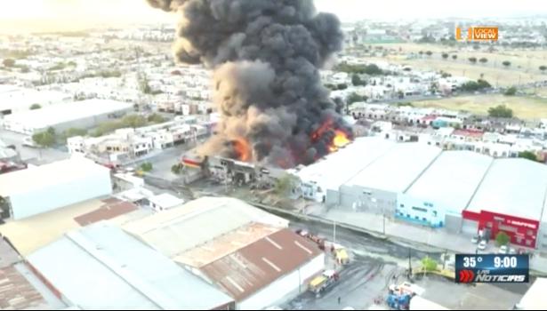 Después del incendio, este es el panorama en la colonia Hacienda Los Morales, en San Nicolás