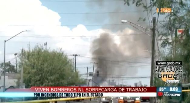 Se multiplica el trabajo de los bomberos en Nuevo León. Urge apoyo