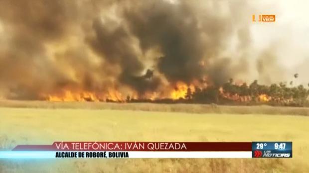 #Entrevista. Después de tres semanas, comienza a ceder el fuego en la selva amazónica. Hablamos con el alcalde de Roboré, Bolivia