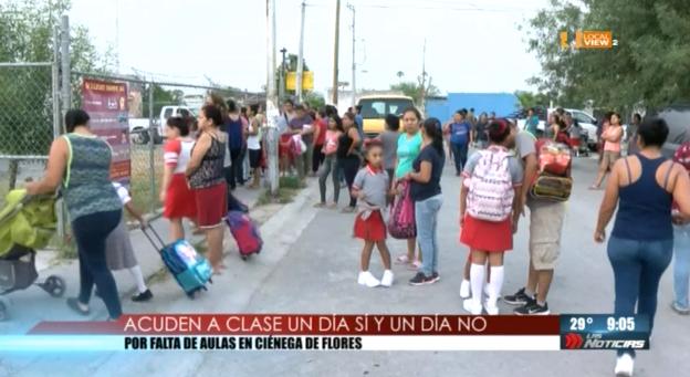 """""""Vengan un día sí y un día no"""", les dijeron a los niños en una escuela de Nuevo León"""
