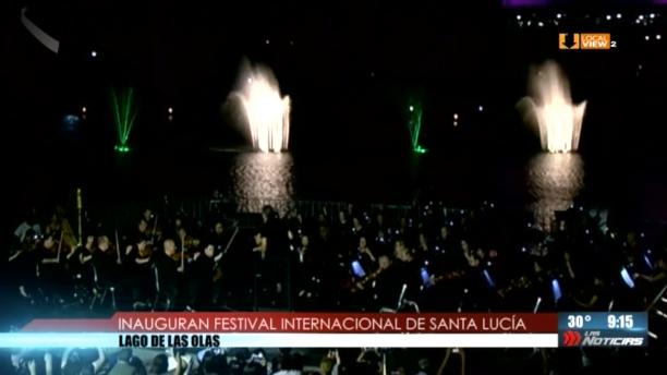 Comenzó el Festival Internacional de Santa Lucía