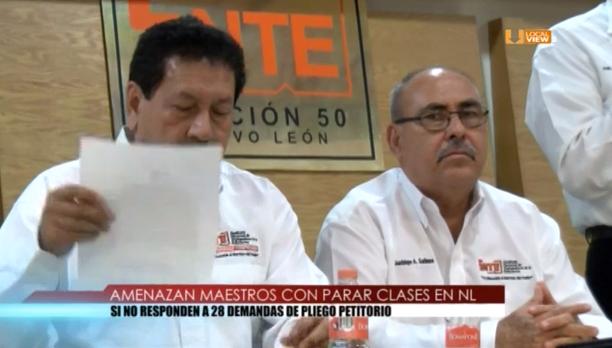 Maestros de Nuevo León amenazan con realizar paro de labores