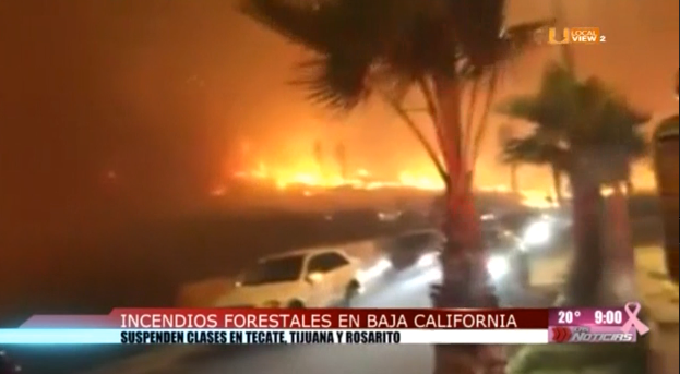 #Video de los incendios en Baja California