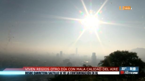 Inicia el fin de semana con mala calidad del aire en la zona metropolitana de Monterrey