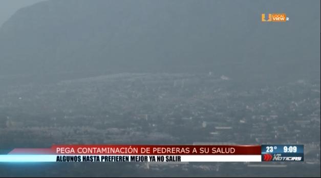 Vecinos de Santa Catarina llevan años padeciendo mala calidad del aire