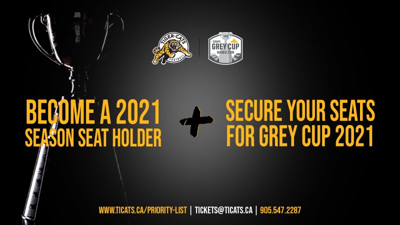 Become a 2021 Ticats Season Seat Holder + Secure Your Grey Cup Seats