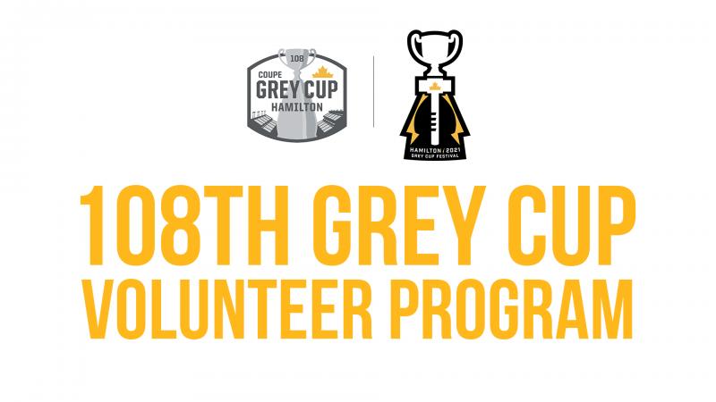 108th Grey Cup Volunteer Program