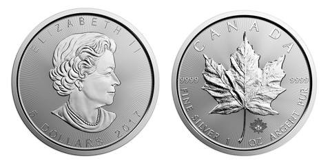 Canadian Silver Maple Leaf - Side by Side View