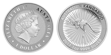 Silver Kangaroo Coin - Side by Side View