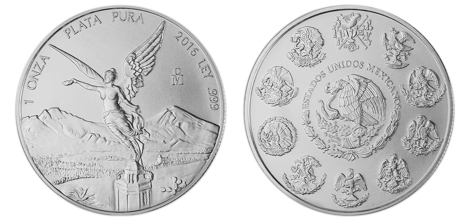 Silver Mexican Libertad Coin - Side by Side View