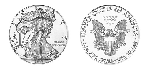 American Silver Eagle Coin - Front and Back View