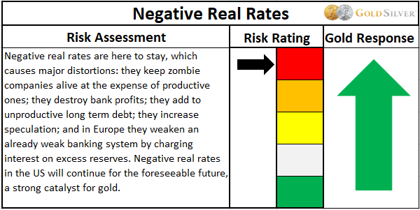 Negative real rates risk assessment