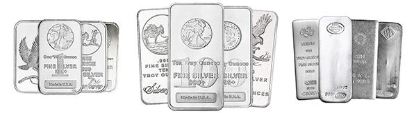 1oz 10oz 100oz Silver Bars