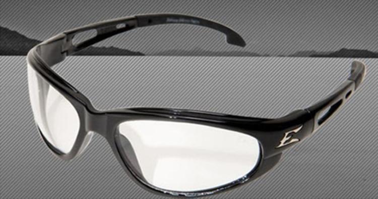 0c52d44400 Edge Eyewear Dakura Safety Glasses - Black Non-Polarized Clear at ...