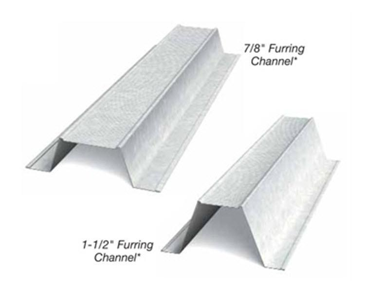 1 1 2 In X 12 Ft X 25 Gauge Furring Channel Hat Channel At