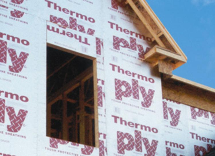 1 8 in x 4 ft x 8 ft ox thermo ply red structural for Thermo ply structural sheathing