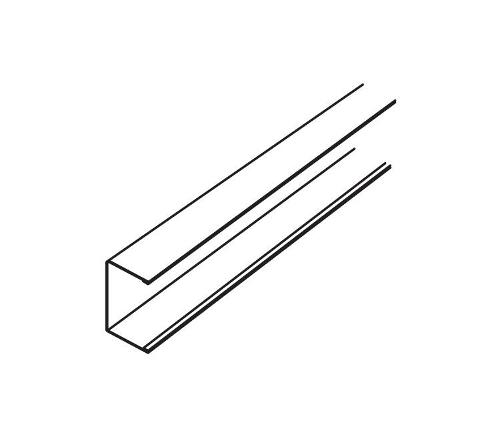 10 ft x 9/16 in Armstrong Suprafine XL Exposed Tee Channel Molding - 7835WH