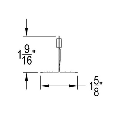 12 ft x 1 1/2 in Armstrong QuikStix Cross Tee Drywall Grid System for Soffits w/ 6 in OC - QS612
