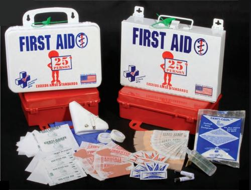 CSM 16PW - 25 Person ANSI First Aid Kit w/ Eye Wash