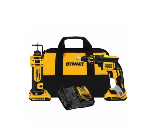 DeWALT 20V MAX* Brushless Drywall Screwgun & Cut-Out Tool Combo Kit