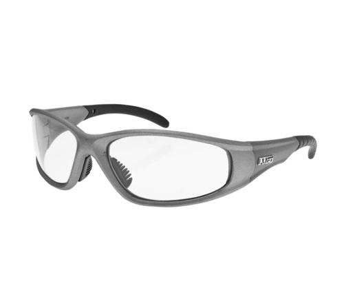 LIFT Safety Pro Series Strobe Safety Glasses - Silver Frame/Clear Lens
