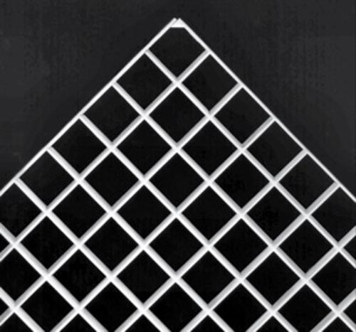 3/8 in x 23 5/8 in x 47 5/8 in SLP Styrene Thincell Economy Eggcrate Louver Panel