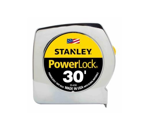 30 ft STANLEY Tools PowerLock Classic Tape Measure - Chrome