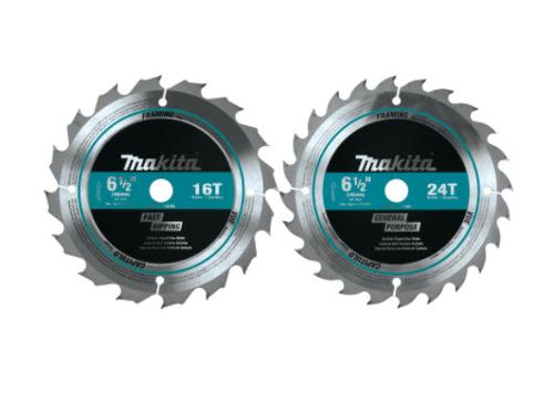 6 1/2 in Makita 24T Carbide-Tipped Circular Saw Blade Set