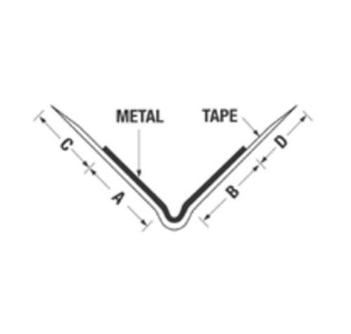10 ft Award Metals Sun Line Tape-On 90 Degree Extra Extra Wide Outside Corner