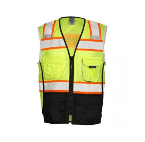 ML Kishigo Premium Black Series Black Bottom Lime Vest - XL