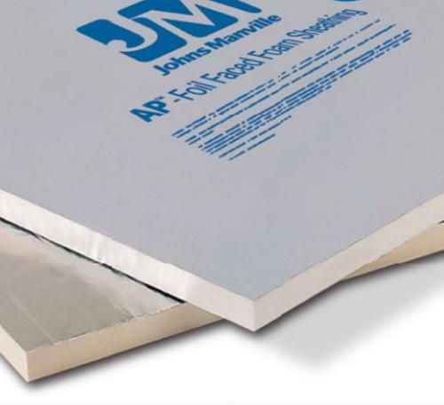 R13 2 in x 4 ft x 8 ft Johns Manville AP Foil Faced Foam Sheathing
