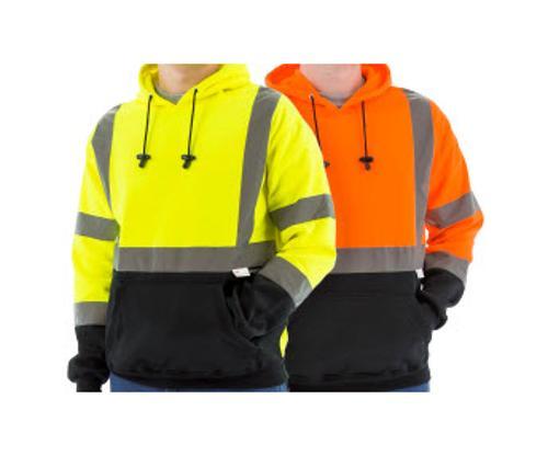 Majestic Glove Hi-Vis Orange Hooded Pullover Sweatshirt - Large