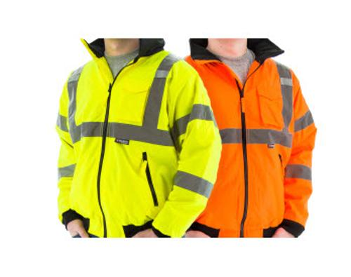 Majestic Glove Hi-Vis Waterproof Orange Jacket w/ Fleece Liner - 2 XL