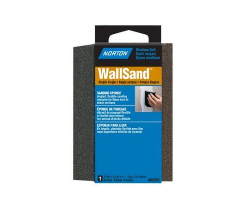 4 7/8 in x 2 7/8 in x 1 in Norton WallSand Single Angle Sanding Sponge - Medium