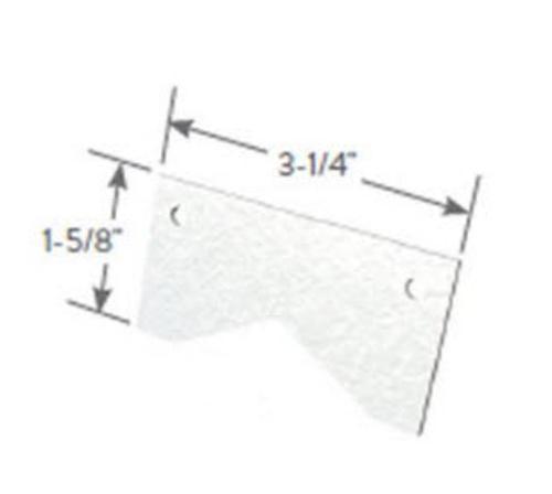 3 1/4 in x 1 5/8 in x 16 Gauge ClarkDietrich Spazzer Bar Guard Clip