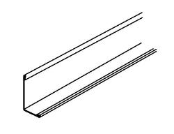 12 ft x 15/16 in x 15/16 in Armstrong Clean Room Hemmed Angle Molding - EA7812