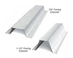 7/8 in x 12 ft x 25 Gauge Furring Channel/Hat Channel