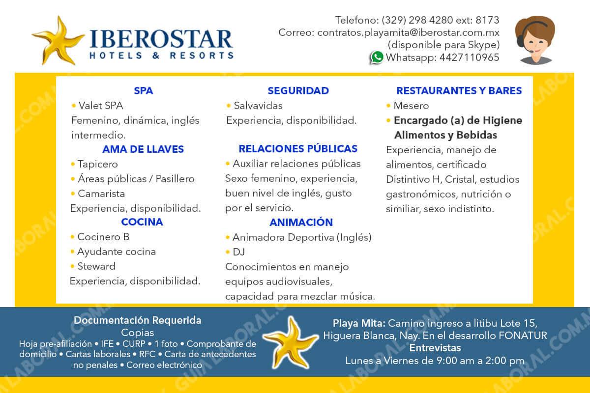 Vacantes Iberostar Punta Mita 06 NOVIEMBRE 2017