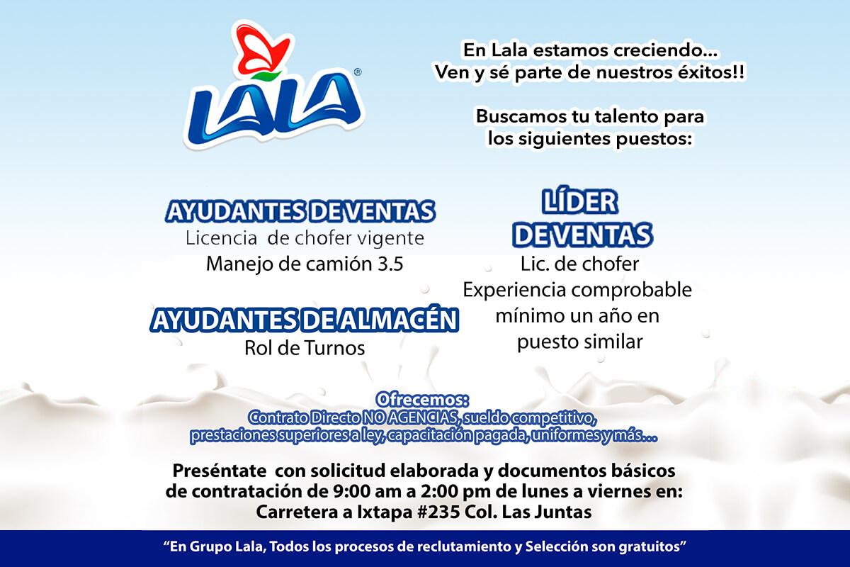 Vacantes LALA Puerto Vallarta 03 DICIEMBRE 2017