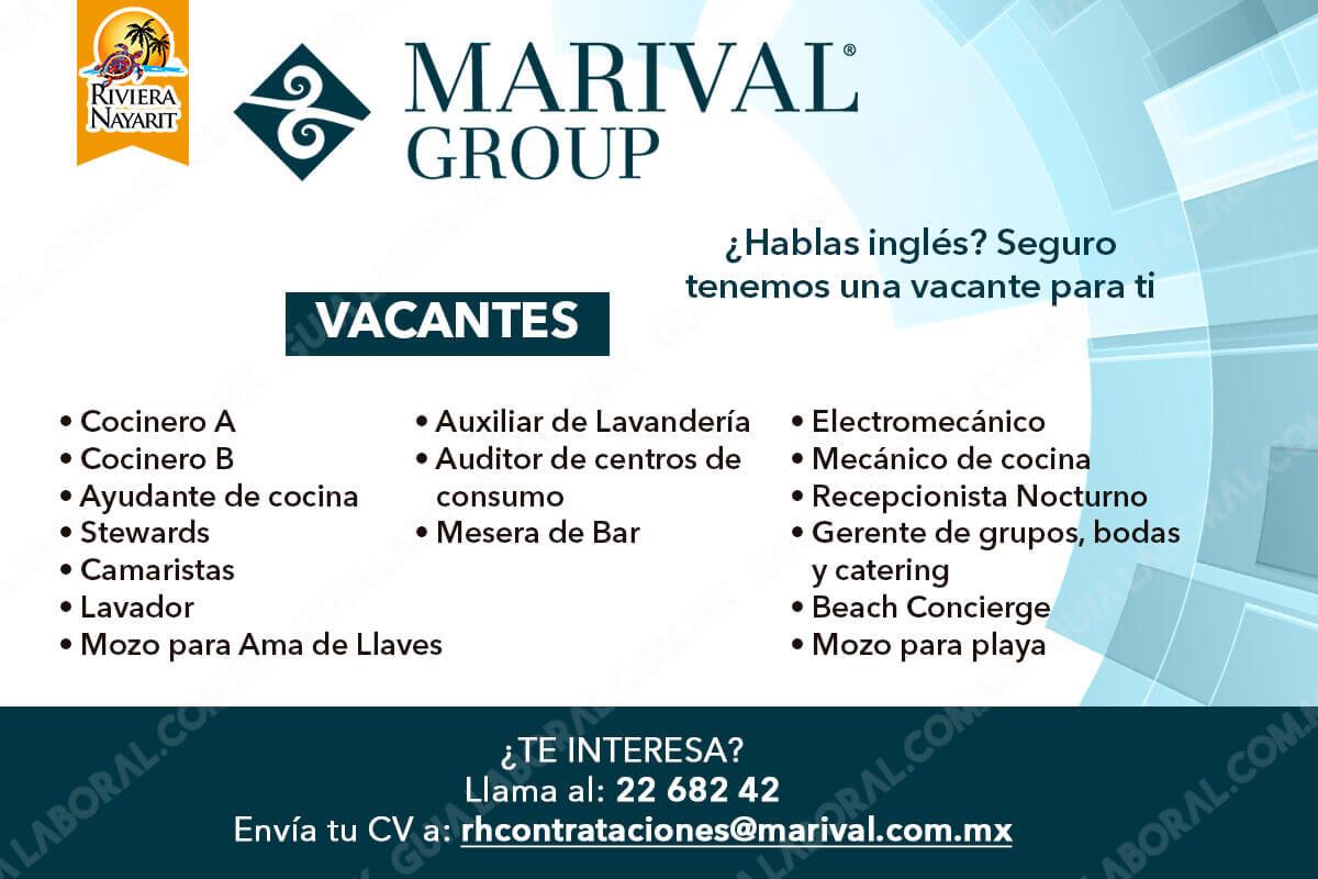 Vacantes marival group riviera nayarit 11 enero bolsa for Busco trabajo ayudante de cocina