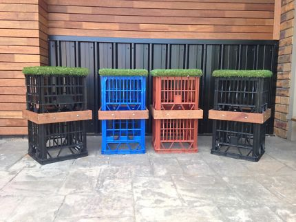 MILK CRATE FURNITURE FOR HIRE OR SALE
