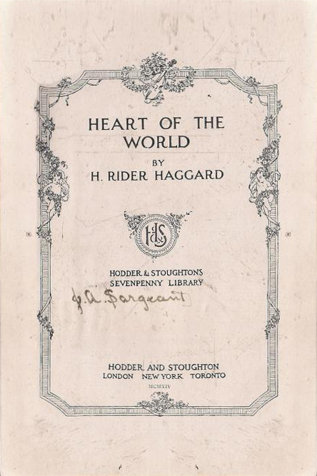 Frontmaterialheartoftheworldhodder1914