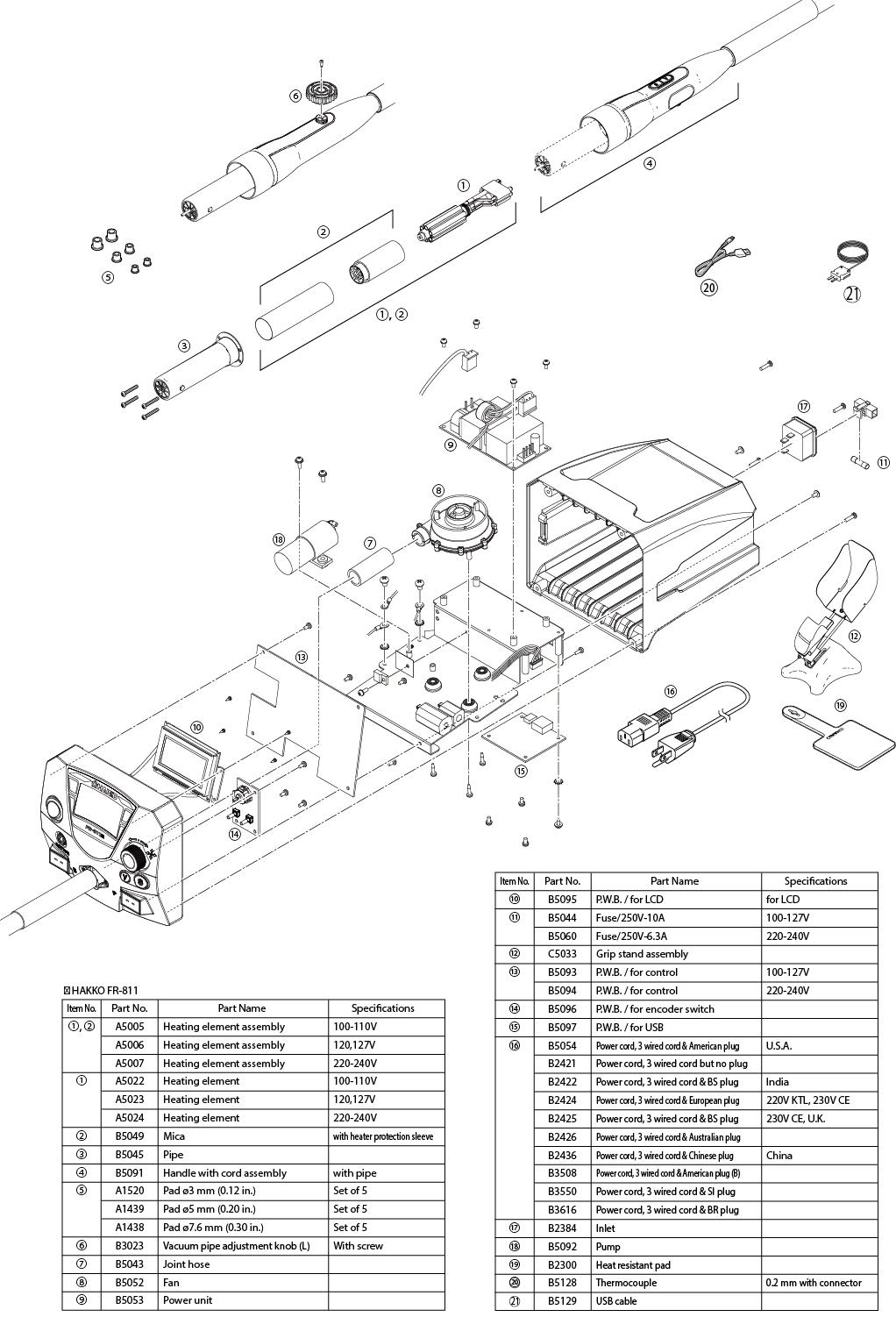 fr-811 advanced smd hot air rework system - rework