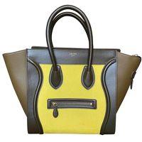 Yellow Celine Phantom tricolor luggage