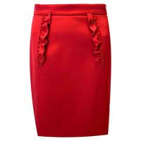 Miu Miu Ruffled dart Red above knee  Skirt