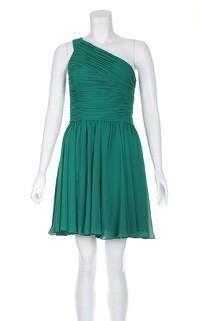 Halston Heritage Draped one Shoulder Green dress