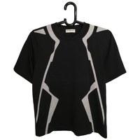 Balenciaga Black Cotton Geometric T-shirt