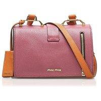 Miu Miu Pink Mini Madras Crossbody Bag